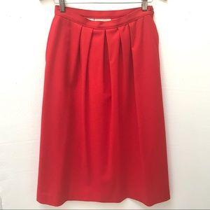 Vintage Red Pendleton Lined Wool A-Line Skirt-10